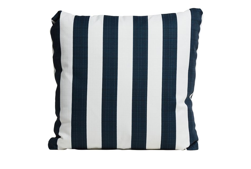 "Stripe Blue 20"" Indoor/outdoor Accent Pillow"