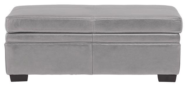 Carson Gray Leather Storage Ottoman (1)