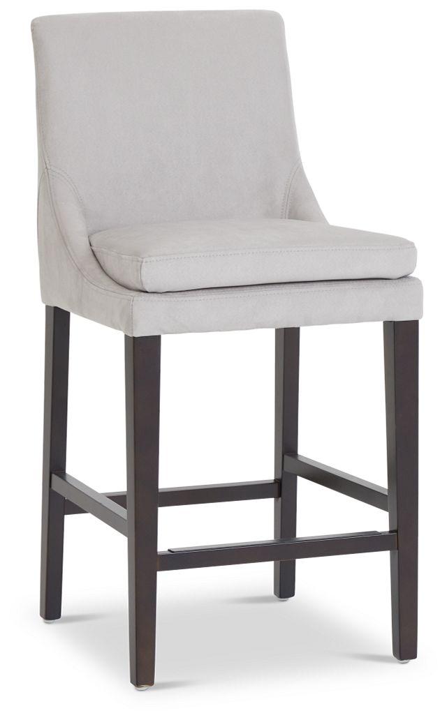 """Tito Light Gray 24"""" Upholstered Barstool (1)"""