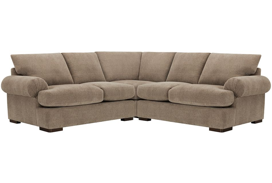 Belair Dark Taupe  FABRIC Small Two-Arm Sectional