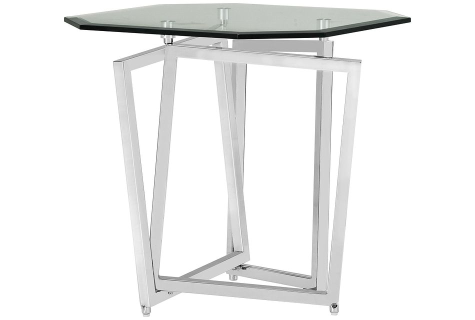 Royce Glass End Table