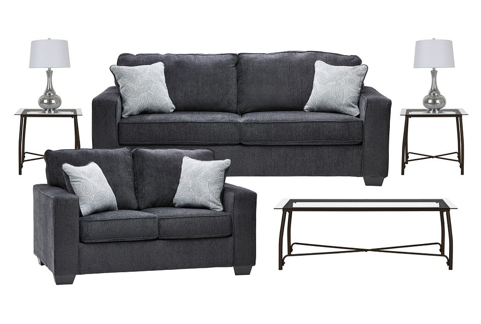 Altari Dark Gray  MICRO 7-Piece Living Room Package