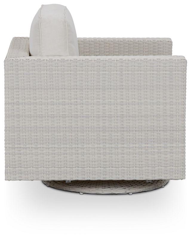 Biscayne White Swivel Chair (1)