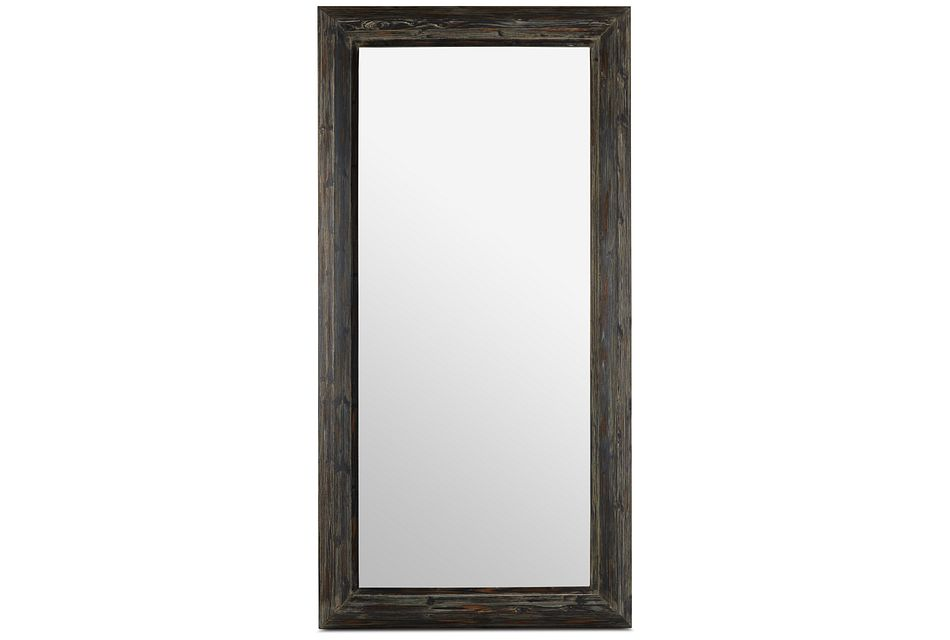 Capri Black Wood Floor Mirror