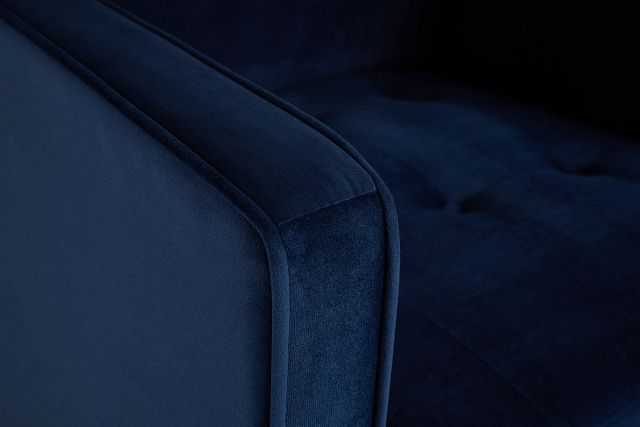 Luna Dark Blue Velvet Chair
