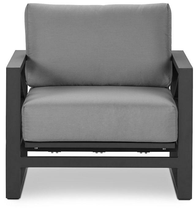 Linear Dark Gray Rocking Chair (3)