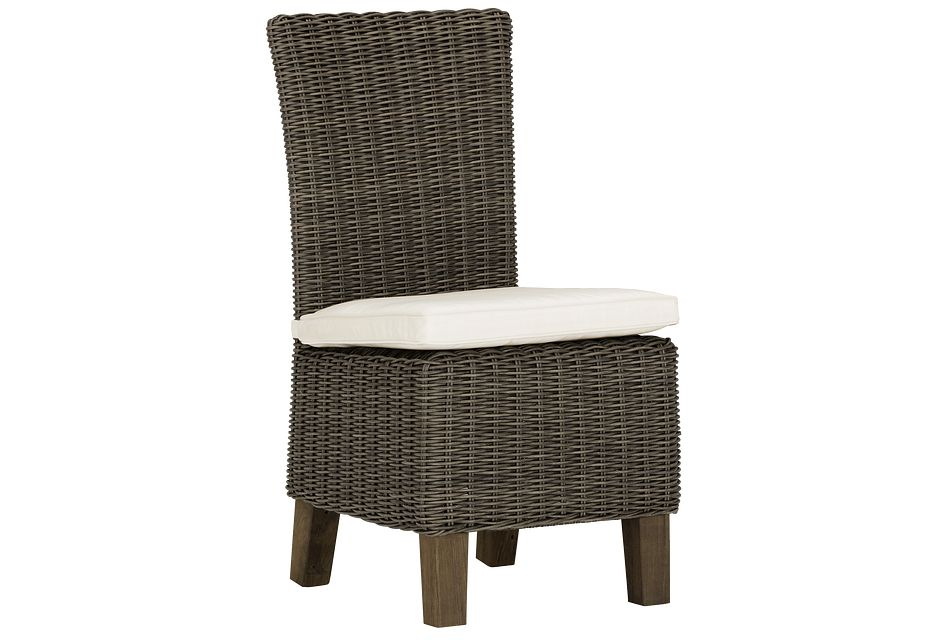 Canyon Gray White Woven Side Chair