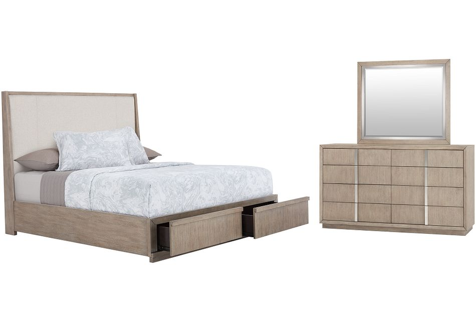 Gramercy Light Tone Uph Platform Storage Bedroom
