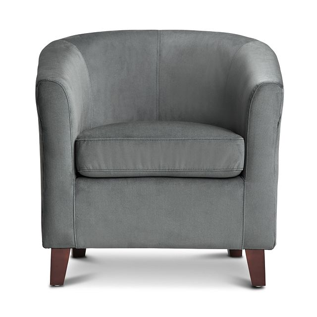 Concord Dark Gray Velvet Accent Chair (1)