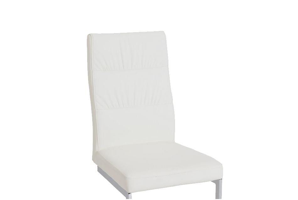 Bronx White Upholstered Side Chair