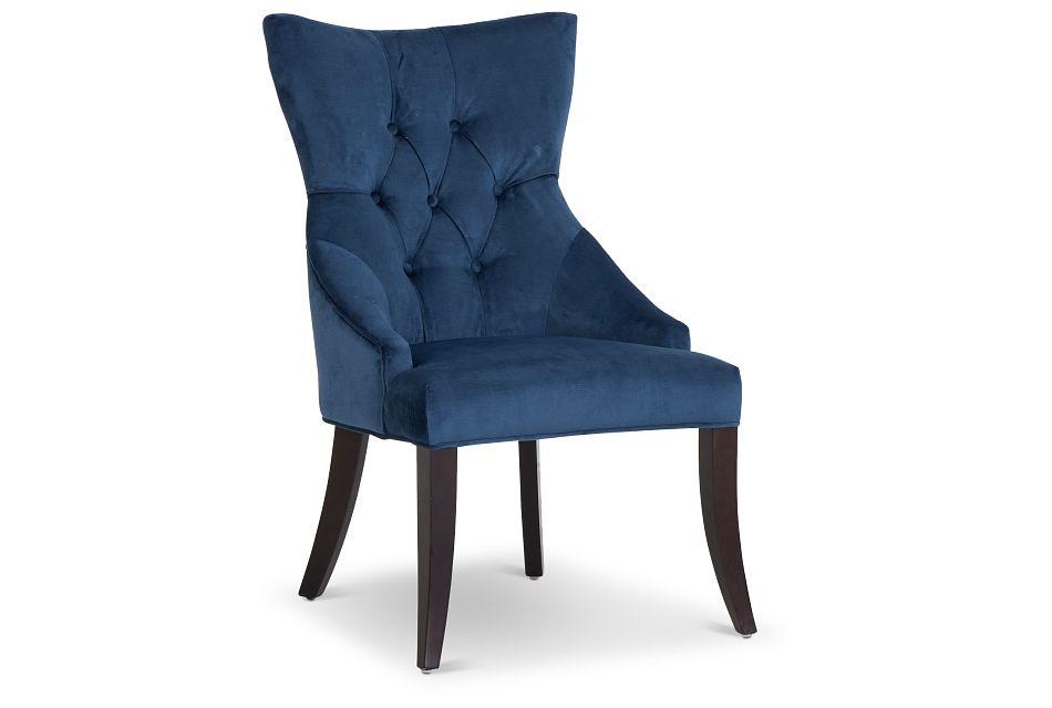 Sloane Dark Blue Upholstered Arm Chair,  (1)
