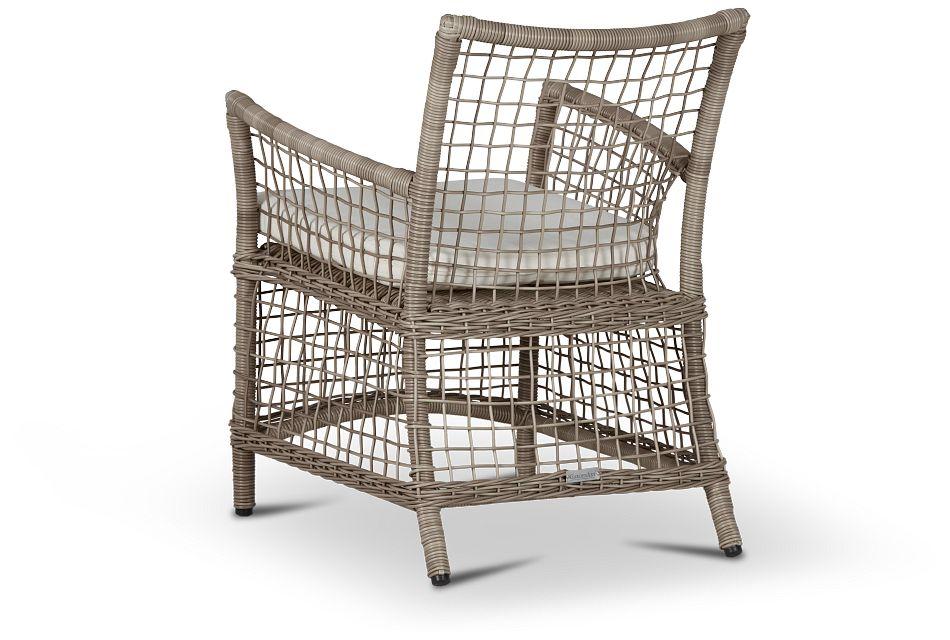 Raleigh White Woven Arm Chair,  (3)