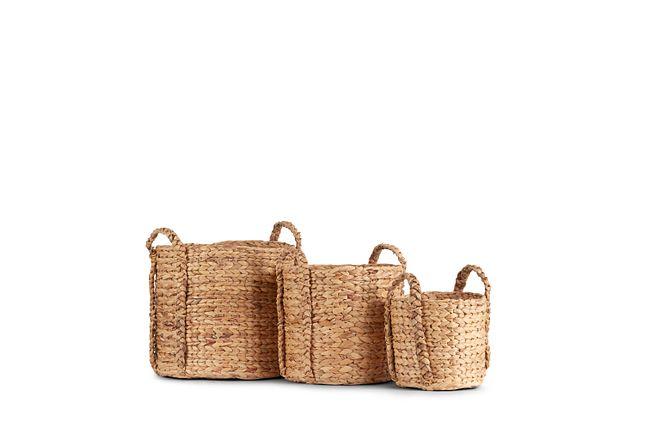 Addie Set Of 3 Woven Basket