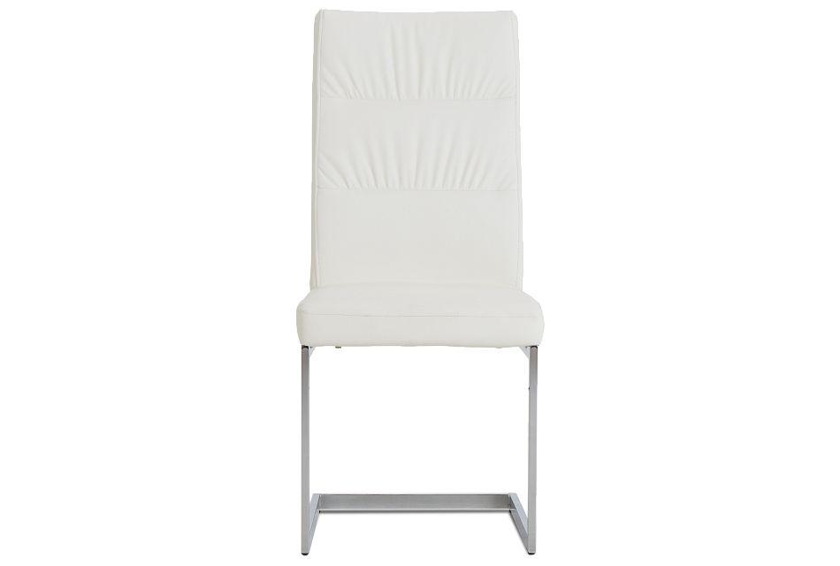 Bronx White Upholstered Side Chair,  (3)