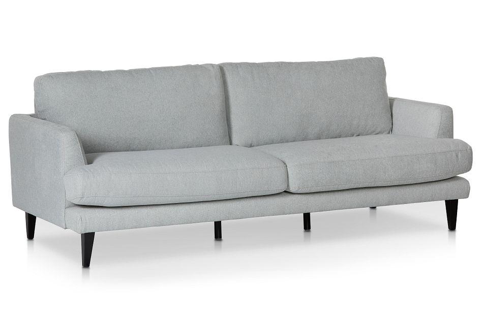 Fremont Light Blue  Fabric Sofa,  (1)