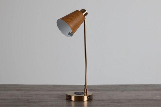 June Gold Wood Table Lamp (0)