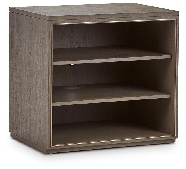 Highline Gray Open Cabinet (2)