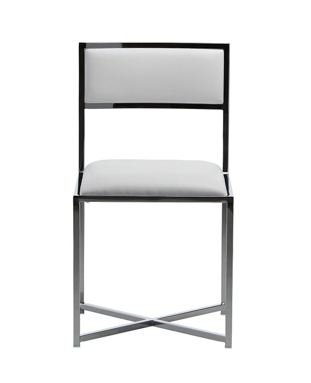 Amalfi White Stnl Steel Side Chair (2)