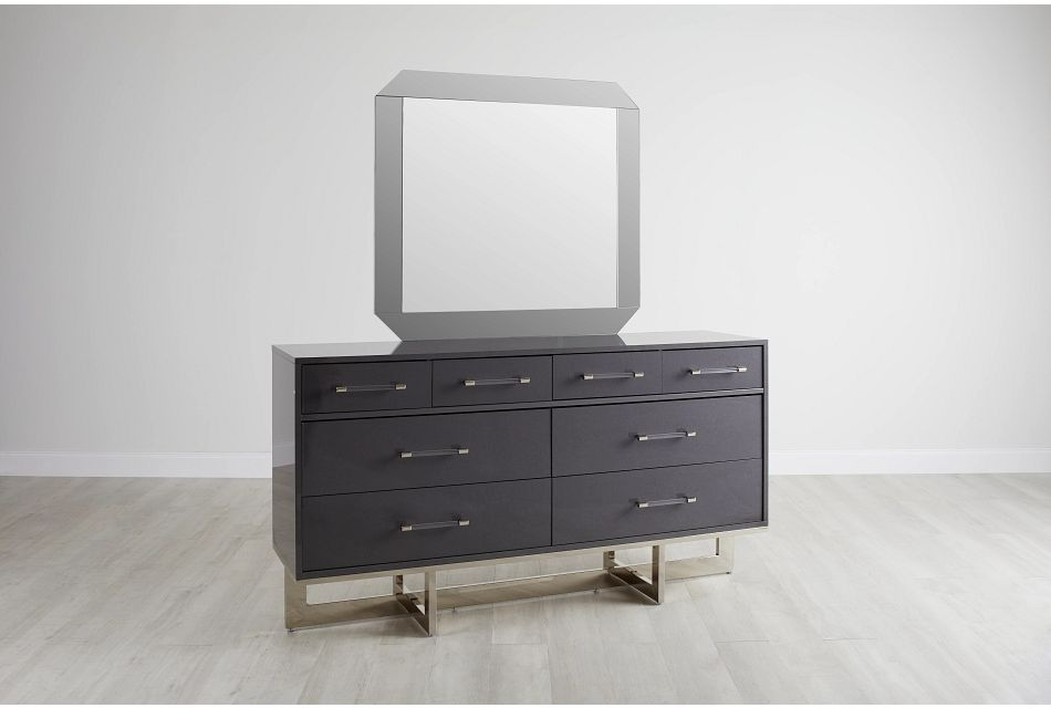Cortina Gray Dresser & Mirror