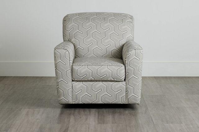 Daylon Light Gray Micro Swivel Accent Chair (0)