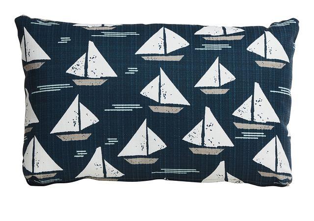 Cape Dark Blue Lumbar Indoor/outdoor Accent Pillow (0)
