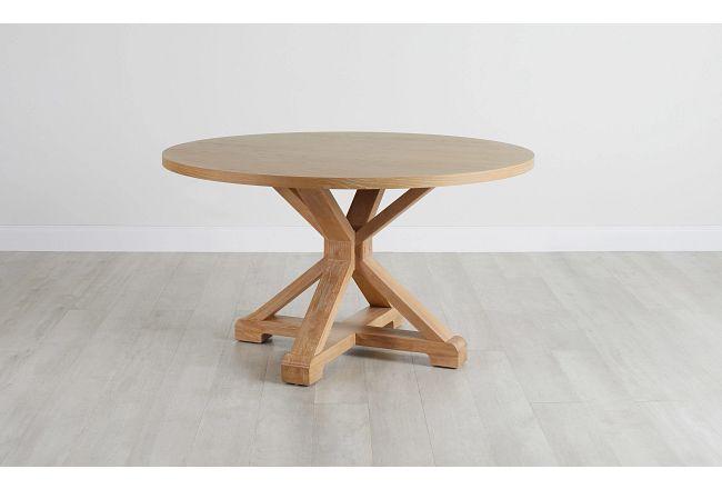 Nantucket Light Tone Round Table