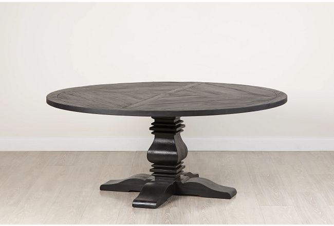 """Hadlow Black 72"""" Round Table"""