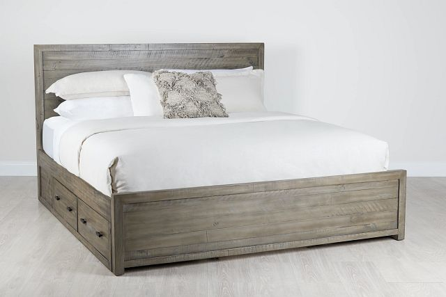 Seattle Gray Wood Platform Storage Bed (0)