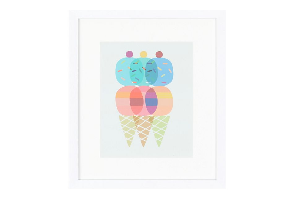 Cones Multicolored Framed Wall Art