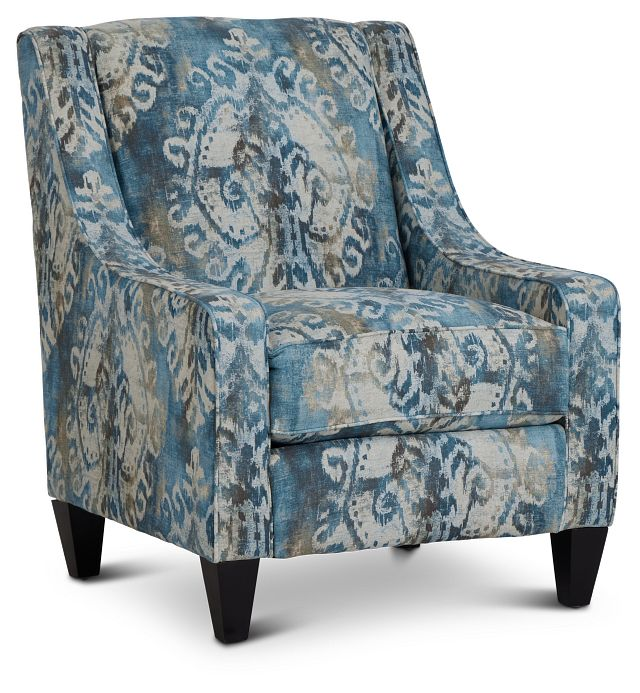 Soledad Blue Fabric Accent Chair (1)