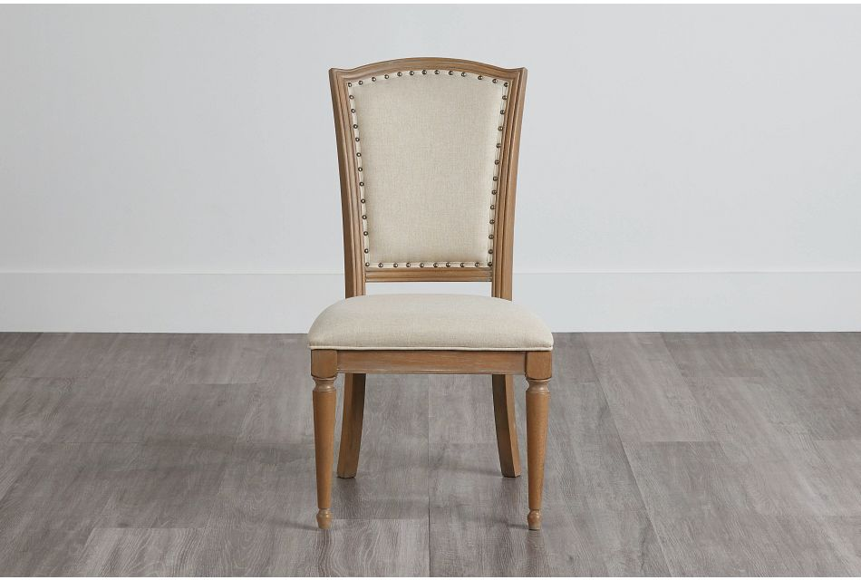 Haddie Light Tone Wood Side Chair,  (0)