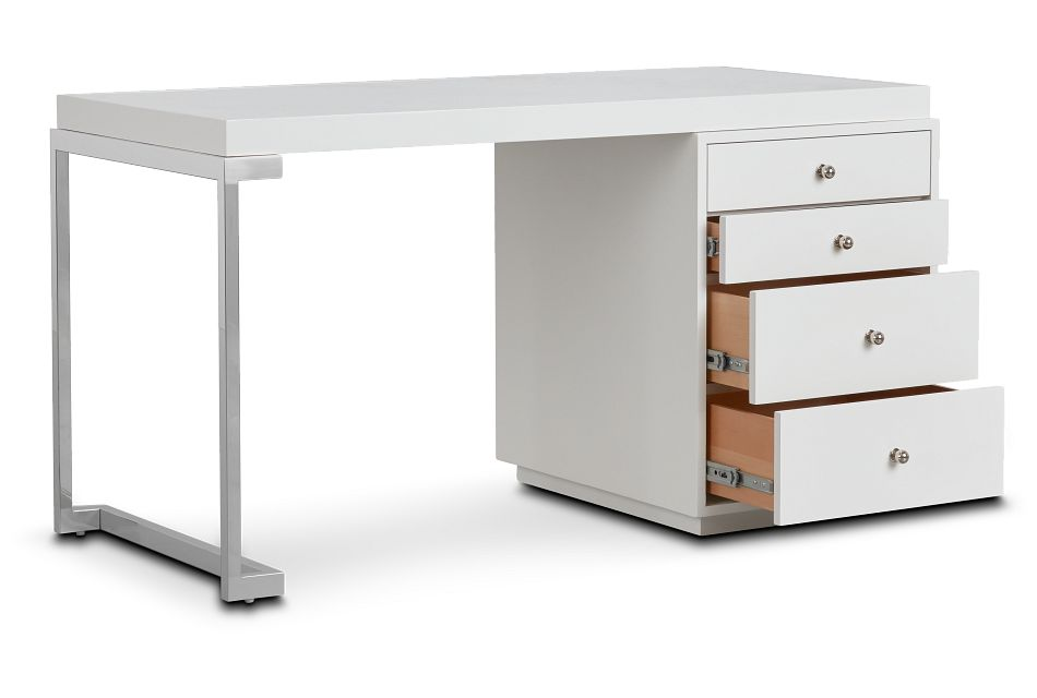 Whitley White Marble Writing Desk