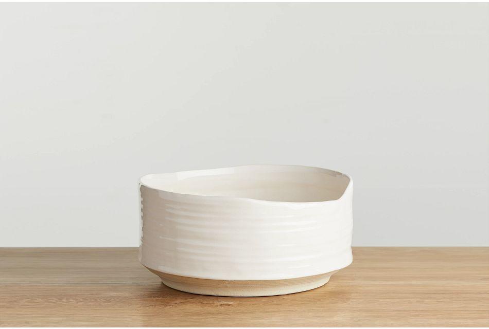 Abree Beige Large Bowl