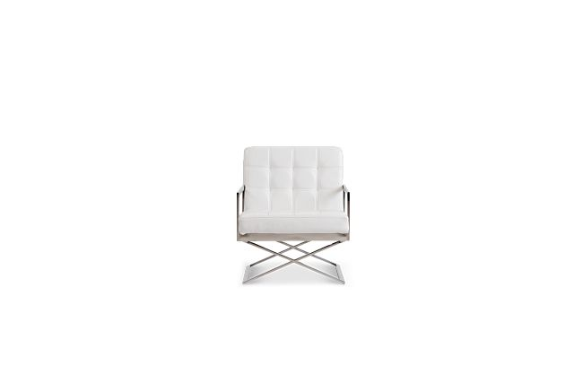 Stark White Uph Accent Chair (3)