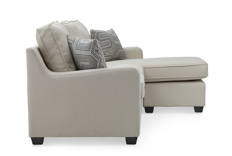 Delaware Light Beige  Fabric Right Chaise Sect