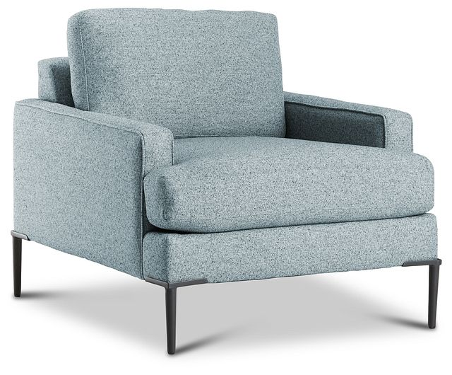 Morgan Teal Fabric Chair With Metal Legs (3)