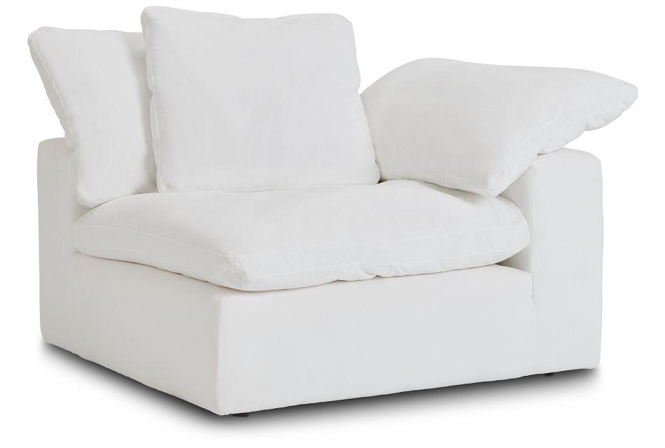 Nixon White Fabric Corner Chair,  (2)