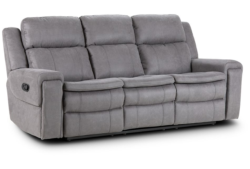 Scout Gray Micro Reclining Sofa,  (2)