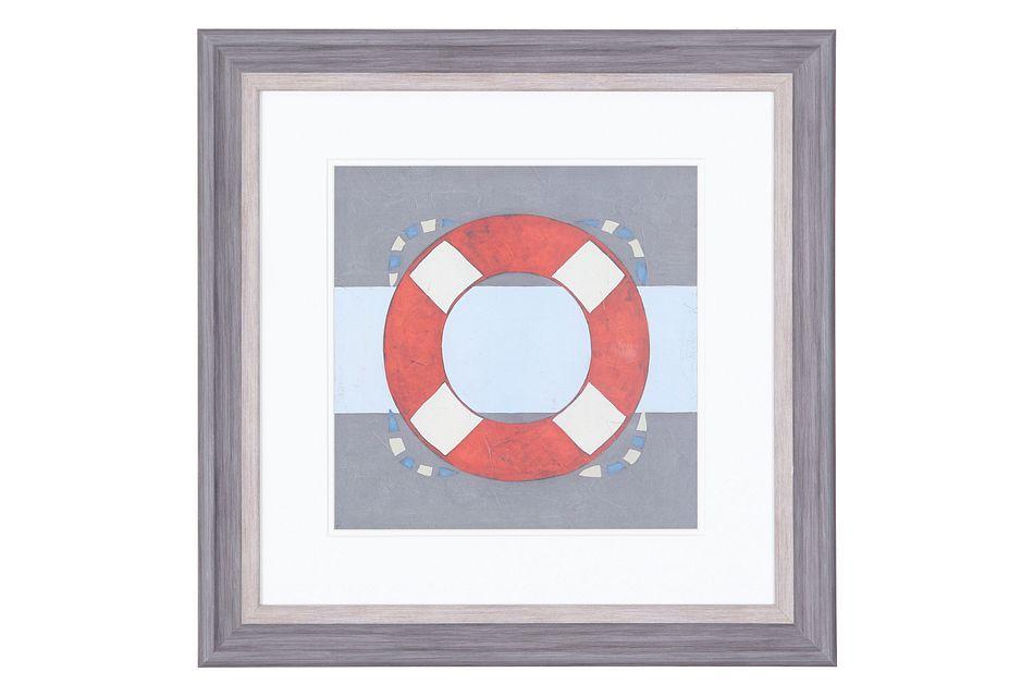 Buoy Red Framed Wall Art