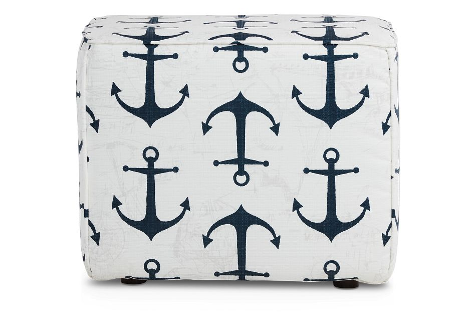 Anchor Blue Indoor/outdoor Accent Ottoman