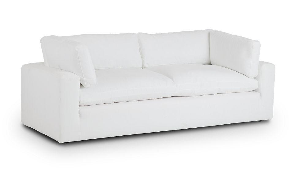 Grant White Fabric Sofa,  (2)