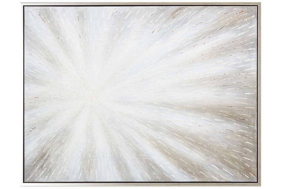 Gem White Framed Canvas Wall Art