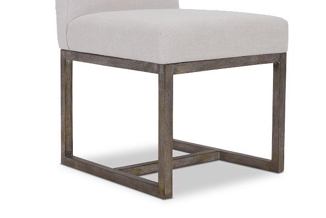 Berlin White Upholstered Side Chair