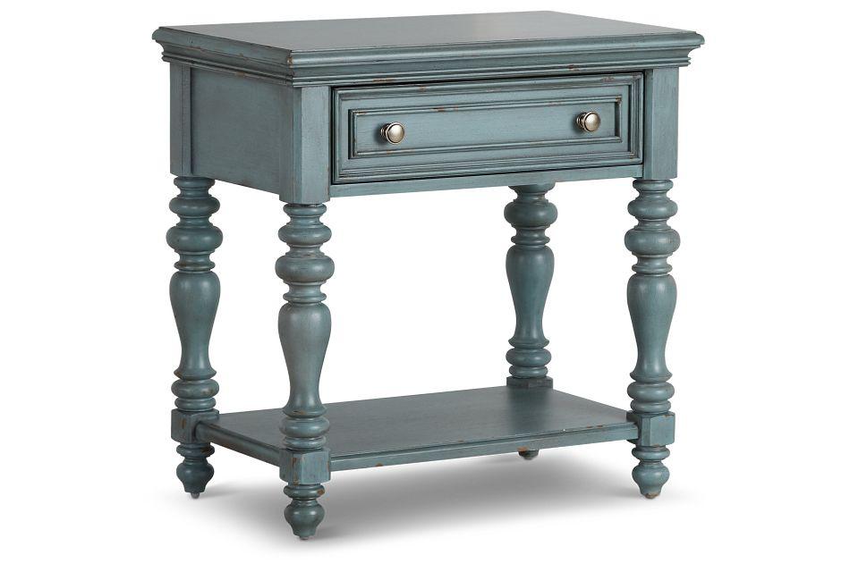 Savannah Teal 1-drawer Nightstand