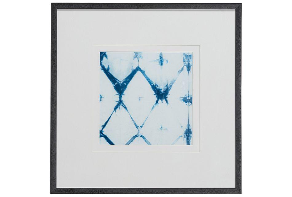Fayde Light Blue Framed Wall Art