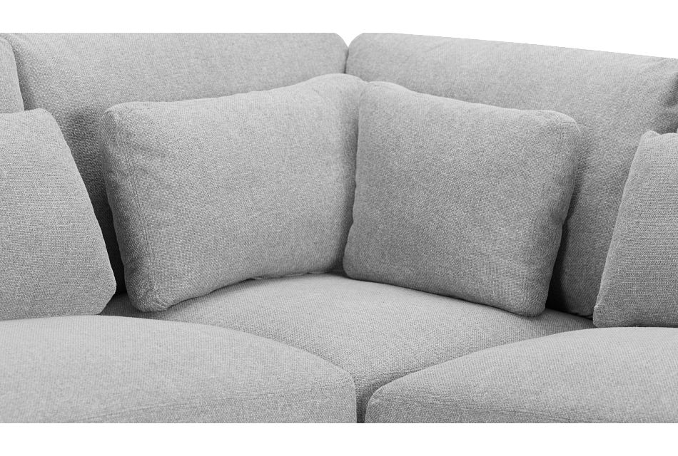 Cozumel Light Gray Fabric 5-Piece Modular Sectional, %%bed_Size%% (3)