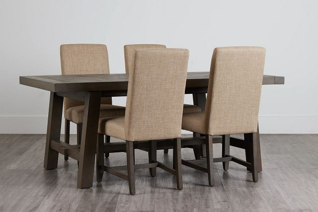 Taryn Gray Rect Table & 4 Upholstered Chairs (0)