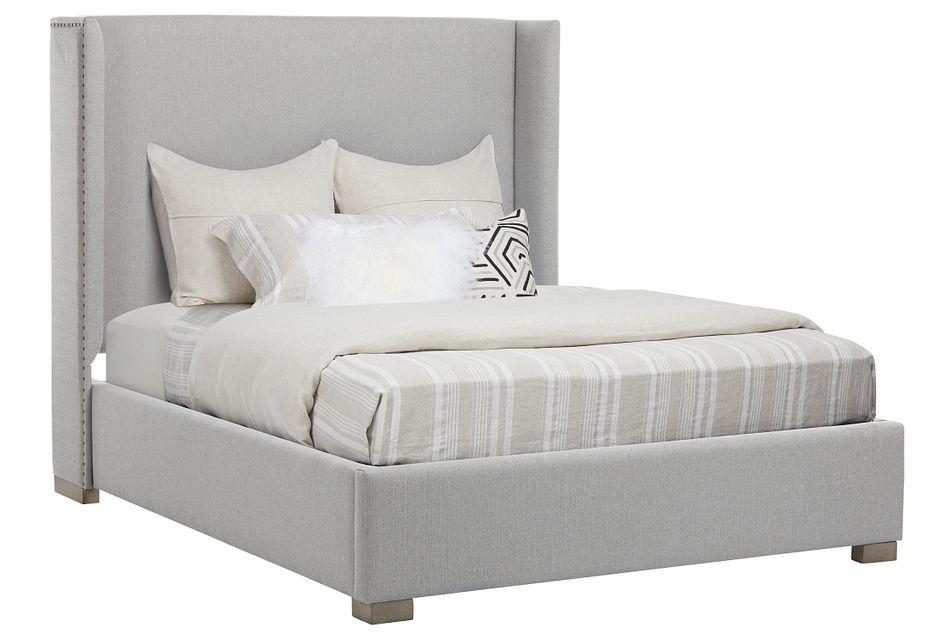 Zephyr Gray Uph Platform Bed