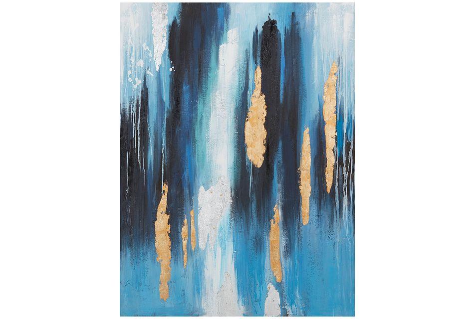 Jetty Blue Canvas Wall Art