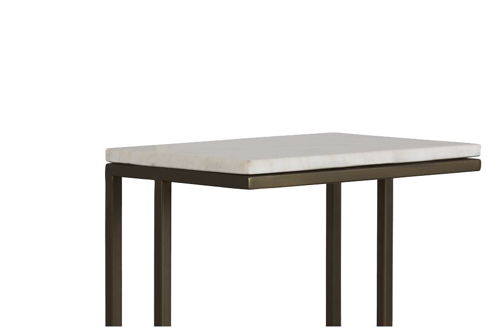 Tallie Black Marble Chairside Table